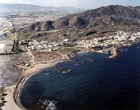 Aerial view of Villaricos